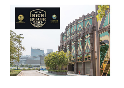 Super High Roller Bowl China - Babylon Casino, Macau.  New poker tournament.