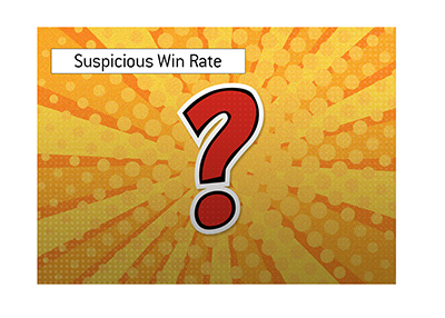 Suspicious win rate detected and analyzed by the poker community.