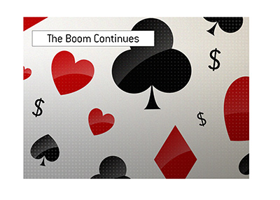The spring of 2020 online poker boom continues.