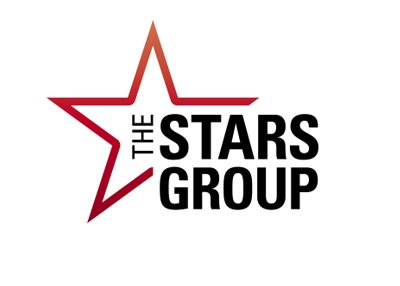 Newly formed The Stars Group.  Company logo.  White background.