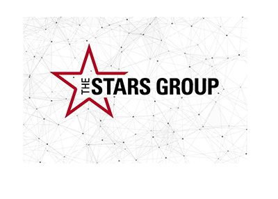 The Stars Group logo with a constelation like background.