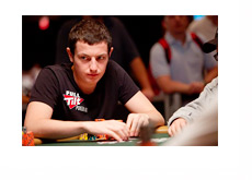 Tom Dwan at the tables representing Full Tilt Poker