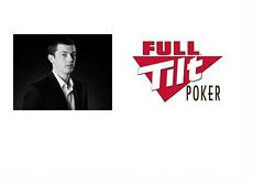 Tom Dwan Black and White Photo and Full Tilt Poker Logo
