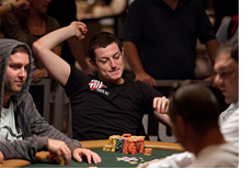Tom Dwan celebrating a lil