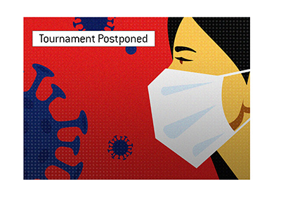 A popular poker tournament is postponed due to the outbreak of the Corona virus.