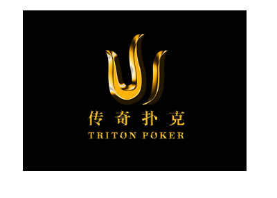 Triton Poker tournament logo - Black background - Year is 2018.