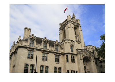 The United Kingdom Supremer Court building.  Photograph - Frog view.