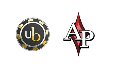 Absolute Poker and Ultimate Bet logos - Blast from the past.