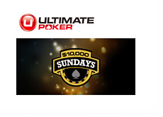 Ultimate Poker $10,000 Sundays - Promotional Graphic
