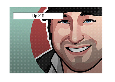 Phil Hellmuth has a 2-0 lead so far in the High Stakes Duel.