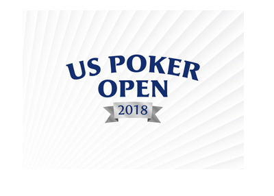 The United States Poker Open 2018 - Tournament logo over a stylistic background.