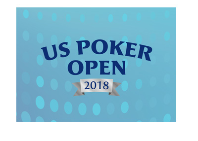 Stylized background for the US Poker Open 2018 - Tournament.