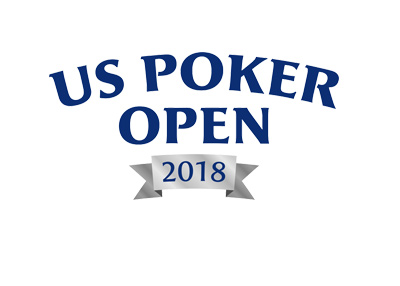 US Poker Open 2018 - Tournament logo on white background.