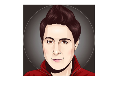 Cartoon portrait of the famous poker player Vanessa Selbst.  Source: Facebook.