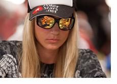 Vanessa Rousso - Hat Sideways and Reflective Shades