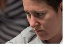 -- Vanessa Selbst in a deep thinking pose