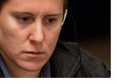 Close-up shot of Vanessa at the World Series of Poker 2010