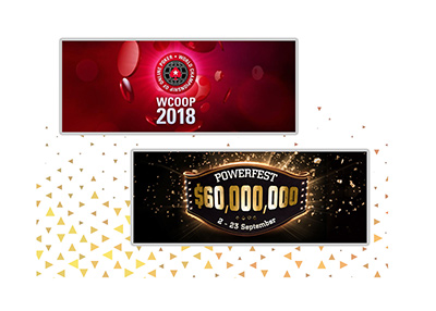 The Pokerstars WCOOP and Partypoker Pokerfest are on before 2018 is over.  Join in.