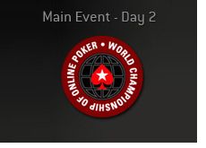 world championship of online poker - wcoop - logo - main event - day 2