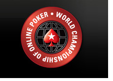 -- world championship of online poker - logo - black background - pokerstars --