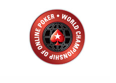 World Championship of Online Poker - Pokerstars - logo with a gray outline