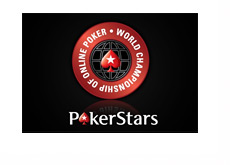 World Championship of Online Poker - Pokerstars - Logo - Black Background