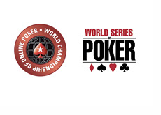 WCOOP (World Championship of Online Poker) and WSOP (World Series of Poker) logos