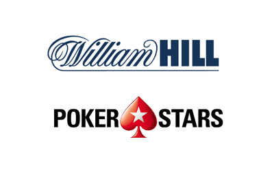 The merger of William Hill and Pokerstars logos - Year 2016