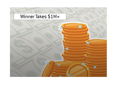The winner takes home over $1M - American Cardroom smashes guarantee.