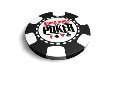 The World Series of Poker chip - Black colour.