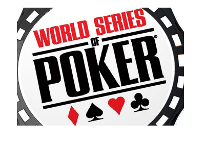 The World Series of Poker.  Coin illustration.  Zoomed-in.