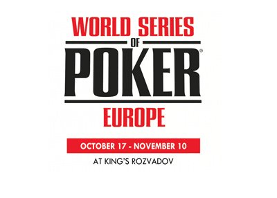 The WSOPE - World Series of Poker - Logo for 2017 - Kings Casino - Rozvadov, Chech Republic.