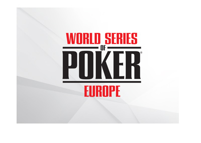 The WSOP 2018 logo with stylized background.  World Series of Poker.