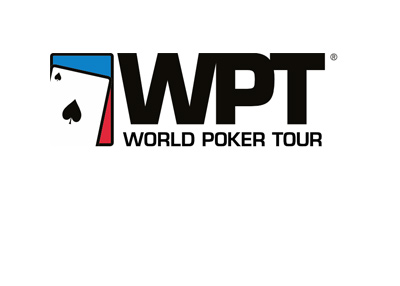 The World Poker Tour logo - White background.