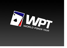 wpt - world poker tour logo - sliding down