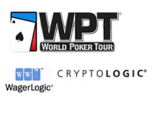 world poker tour logo - wpt - cryptologic - wagerlogic logo