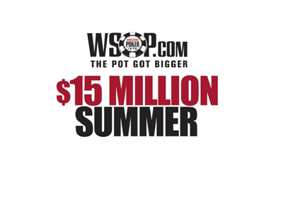 The WSOP 15 Million Dollar Summer of 2018 - Promo graphic.