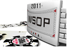 World Series of Poker 2011 bracelet and chips