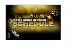 WSOP (World Series of Poker) 2012 Schedule