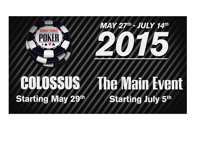 The World Series of Poker (WSOP) 2015 - Announcement Graphic - Black and White