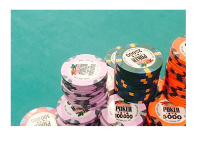 Daniel Negreanu chip stack at the 2015 World Series of Poker Main Event - Instagram