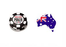 World Series of Poker Logo - Australia Map - Flag