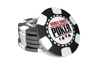 World Series of Poker chip stack - Produced in 3d - Black colour
