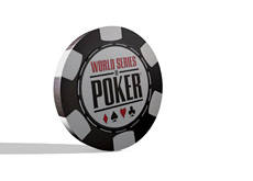 -- World Series of Poker chip in 3D --