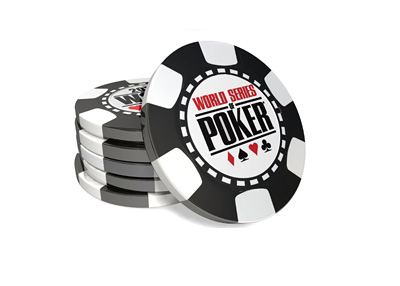The WSOP chip stack illustration in 3D
