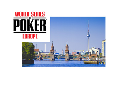 World Series of Poker Europe (WSOPE) 2015 - Berlin, Germany - Ad, logo, promo