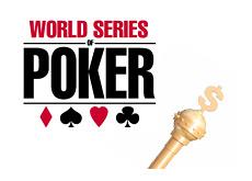 -- WSOP logo next to the King cane --