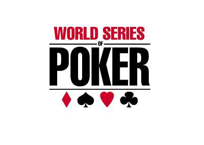 The World Series of Poker logo - White background - Year 2016