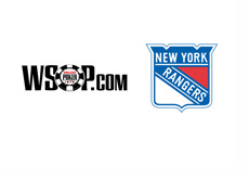 WSOP.com and New York Rangers hockey team logos