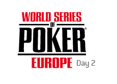 -- world series of poker europe - day 2 --